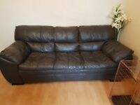 2X Black Leather Sofa's from DFS (Pet and Smoke Free home)