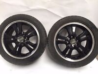 P & W Black 15 inch Alloy Wheels
