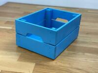 KNAGGLIG wooden blue box, 23x31x15 cm ✨