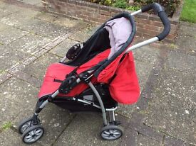 Mothercare Red Buggy Pram Pushchair