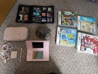 nintendo ds lite pink with accessories