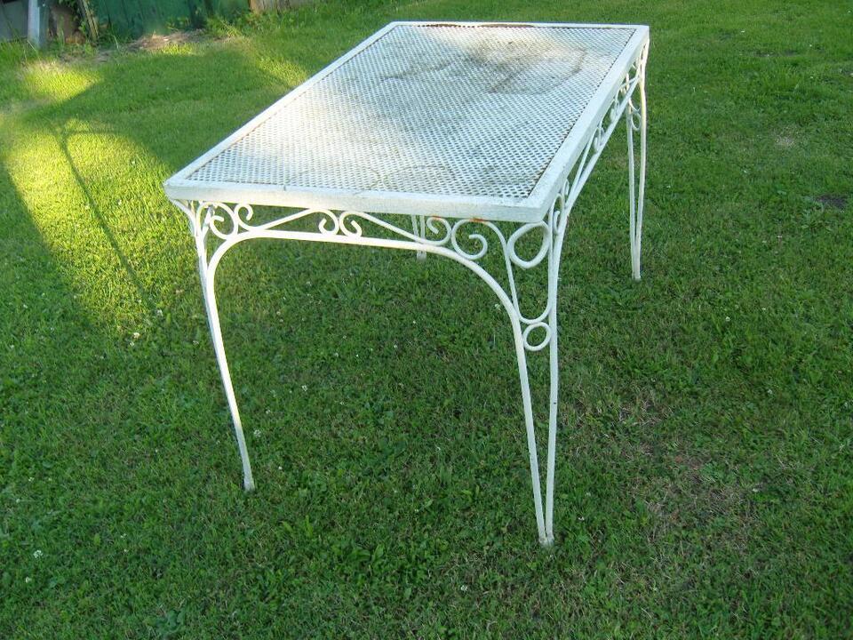 Gartentisch Eisen.Alter Gartentisch Eisen Weiß 100 Cm X 65 Cm Shabby Look