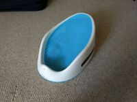 Angelcare soft-touch baby bath support (aqua blue)