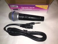 4 Mr Entertainer G158B Dynamic Handheld Karaoke Microphones With Lead 600 Ohm