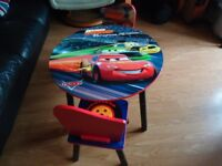 DISNEY PIXAR CARS CHILDS TABLE & CHAIRS
