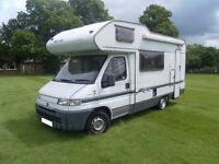 Swift Royale 590 five berth motorhome with overcab bed