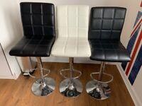 3 gas lift bar stools