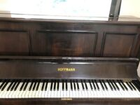 Hoffman piano and chair (re-tuned in 2017)
