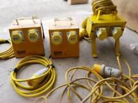 110v splitters defender cables
