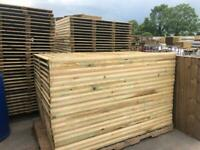🌟 Pressure Treated Heavy Duty Straight Top Wooden Garden Fence Panels - New