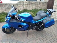 Triumph Sprint ST1050 Blue, great condition, low miles, matching panniers, heated grips