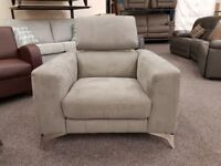 New Display Item Furniture Village Flavio Grey Armchair Can Deliver View Hucknall Nottingham