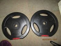 2 x 5 kg Large Plate Weights
