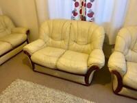 Sofa 3 Piece Set Leather