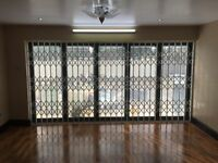 Collapsible grilles, sliding grill, concertina grille, domestic window and door security