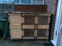 Two Tier Hand Made nearly new Rabbit Hutch for Sale with Covers.