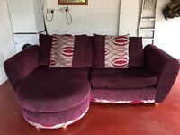 DFS Sofa / foot stool and matching rug