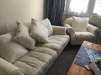Cream sofa and chairs FREE. COLLECTION ONLY