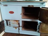Blue aga for sale. Oil convertered.
