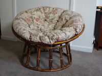 Conservatory or living room wooden chair