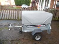 Erde 102 Trailer With Jockey Wheel & Extended High Top Cover