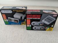 Brand new sealed mini NES and mini SNES bundle