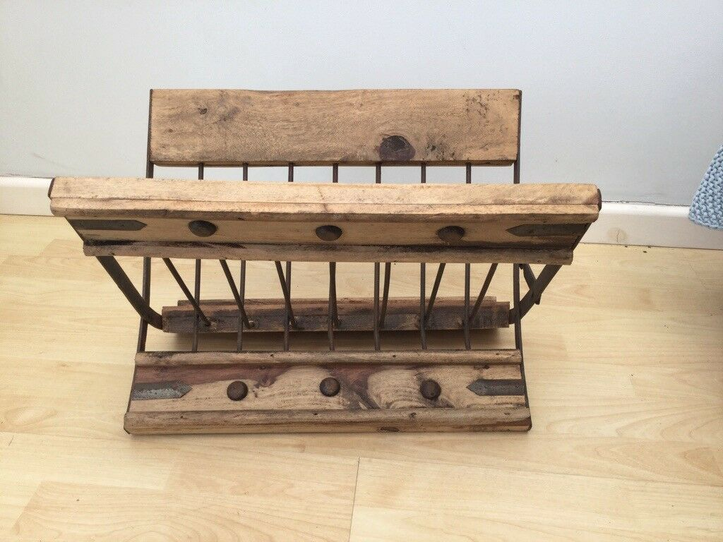 Fine Magazine Rack Rustic Mexican Wood In Welwyn Garden City Hertfordshire Gumtree Camellatalisay Diy Chair Ideas Camellatalisaycom