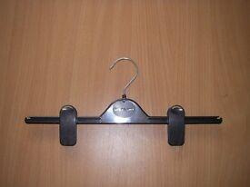 30 x Black (Branded) Trouser / Skirt Hangers