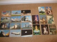 Postcards, NASA in space showing Space Shuttle