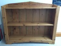 Handmade reclaimed pine bookcase for sale. Sturdy, warm colour with 3 shelves.