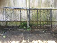 Wrought iron garden driveway gates – pair