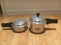 2 Indian Pigeon Brand Cookers