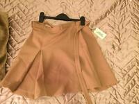 Nude brown skirt