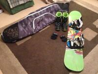 Kids snowboard starter kit *BOARD, BOOTS, BINDINGS & BAG*