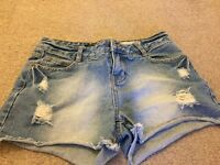 Denim new look shorts