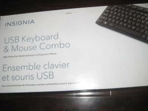Insignia - USB Wired Keyboard and Mouse. For Desktop Computer PC / Laptop / Surface / Macbook / Chromebook / Ultrabook