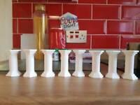 8 cake pillars
