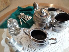 Selection of silver table ware