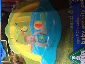 Fun Colourful ELC Shaded Paddling Baby Activity Pool (9-24 months) & 100 Ball Bit Balls - Exc Cond
