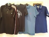 Bundle of mens designer t-shirts