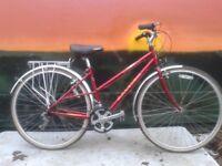 Raleigh Pioneer Hybrid 4130 Cromo Light Weight Ladies Road Bike