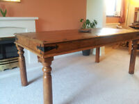 John Lewis solid hardwood dining table in excellent condition.