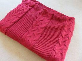 Dunelm Laken Chunky Knit Throw