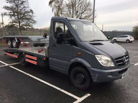 2010 MERCEDES BENZ SPRINTER RECOVERY TRUCK 3.5TON 160BHP AND 1350KG PAYLOAD.