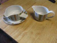 Midwinter 'Sienna' Milk Jug and Soup Bowl / Saucer