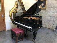 1921 Bluthner Gloss Black Grand Piano & Adjustable Stool - CAN DELIVER