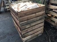 Large crate of kiln dried softwood firewood, 1m3. Timber, kindling, fire