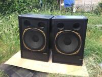 Tannoy 15inch dual concentric loudspeakers