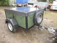 VERY STRONG 5 X 4 X 2 GOODS TRAILER DROPTAIL & COVER.....