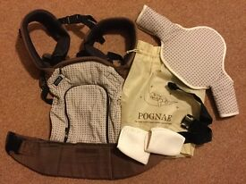 Korean brand Pognae organic baby carrier, rain cover can be sold separately if needed.